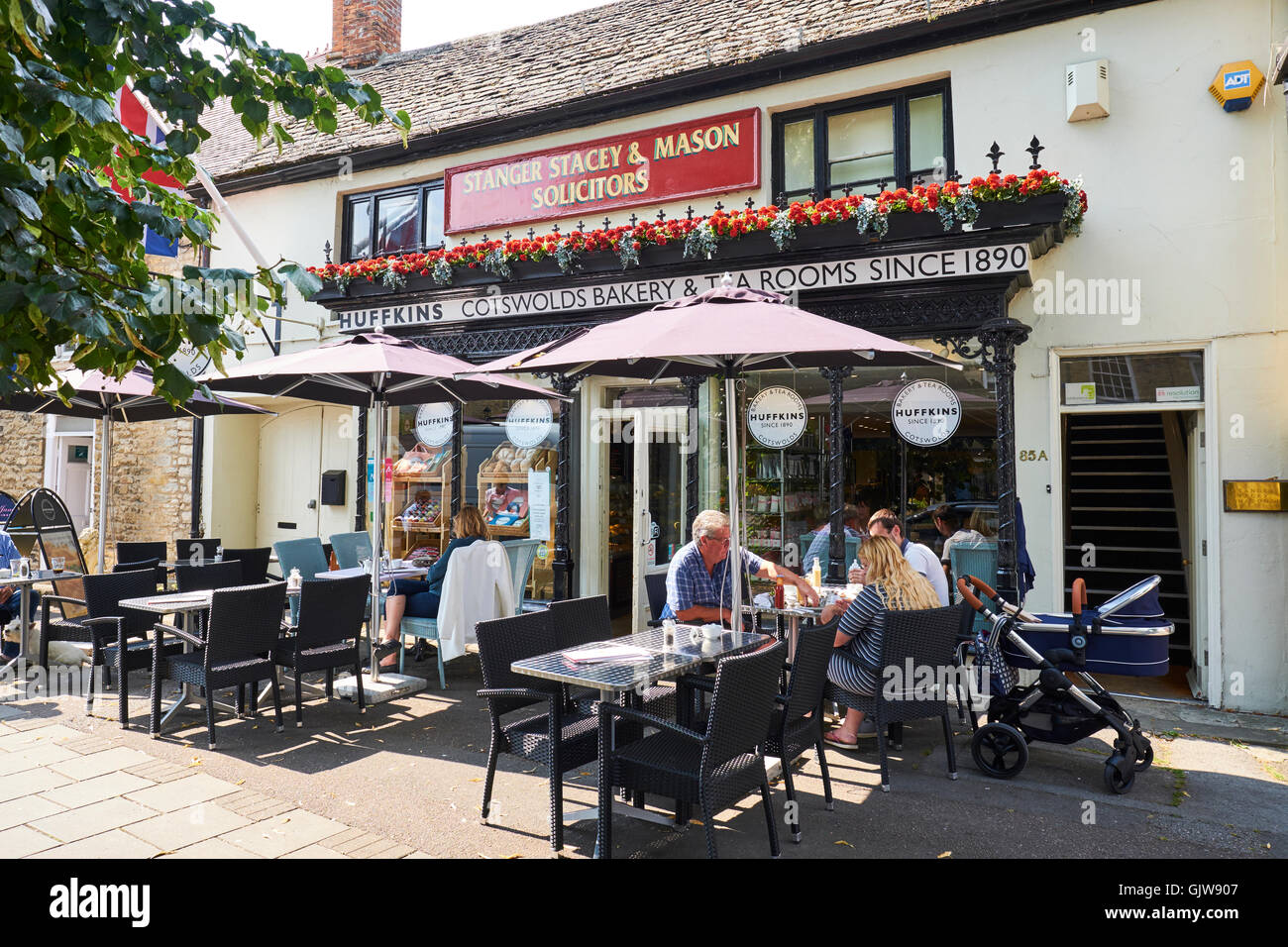 Huffkins Tea Rooms & Bakery High Street Witney Oxfordshire UK Stock Photo