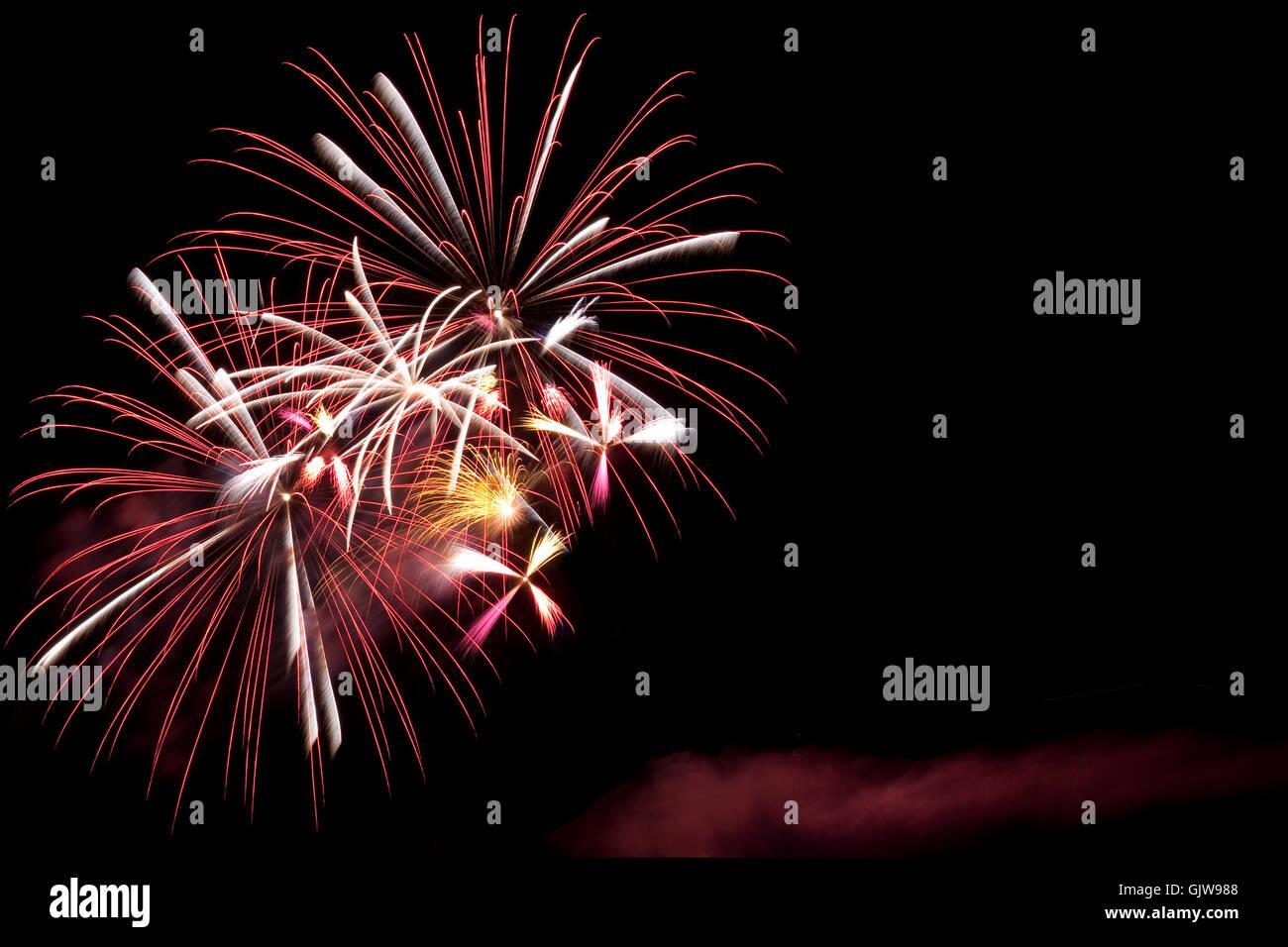 rockets silvester bang - Stock Image