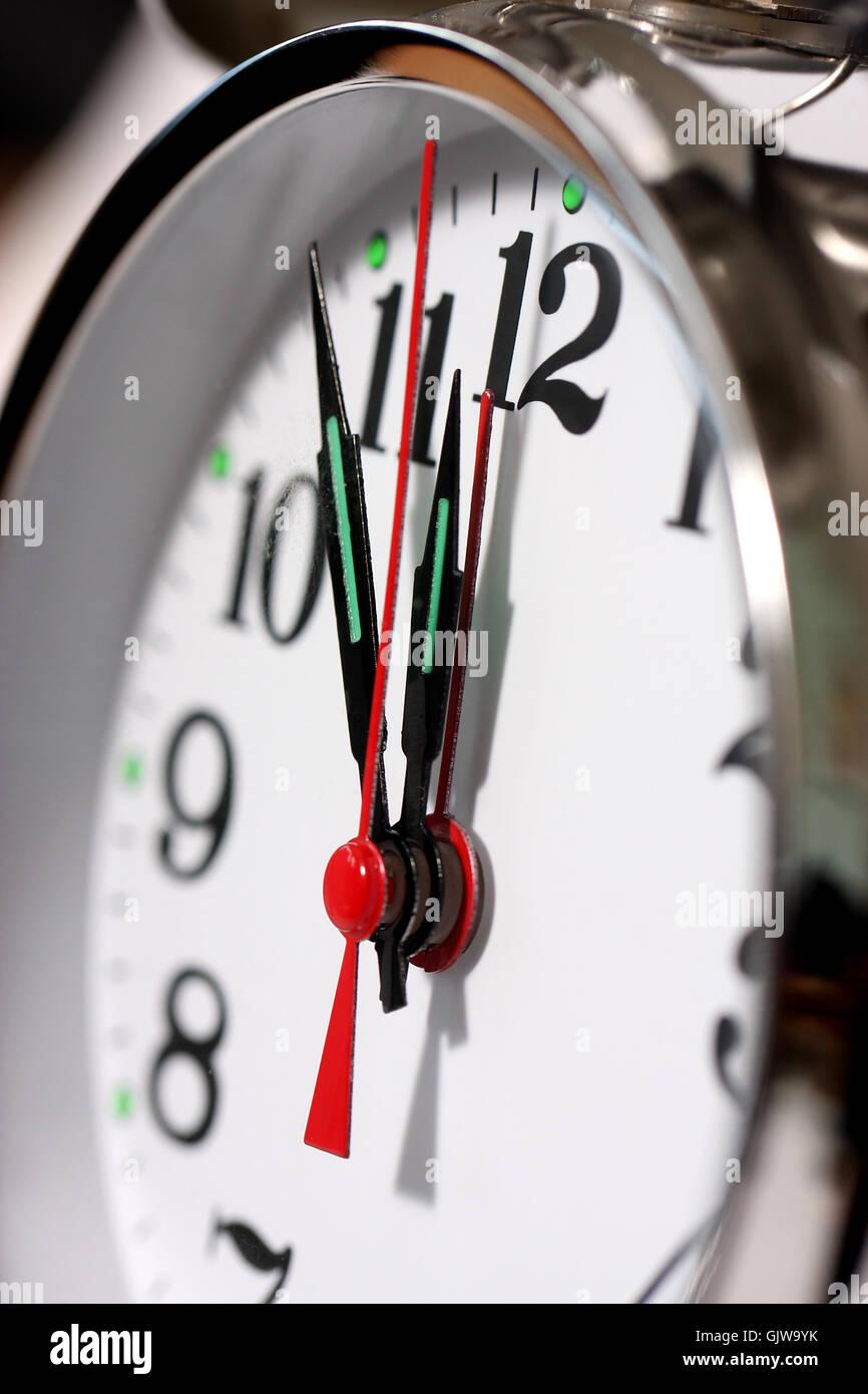 clock time clock hand Stock Photo
