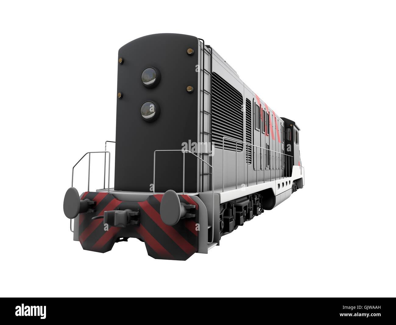 railway locomotive train Stock Photo