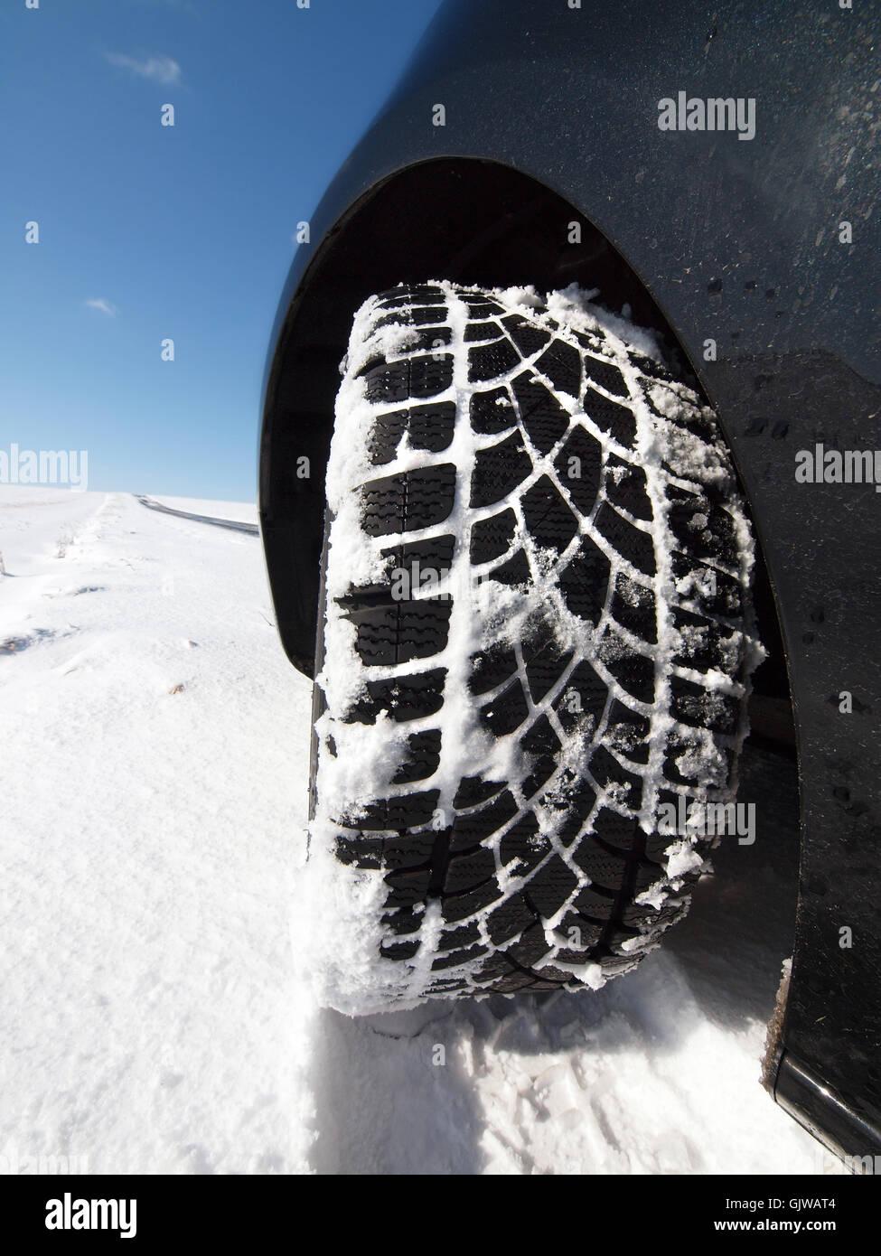 winter tires mandatory - Stock Image