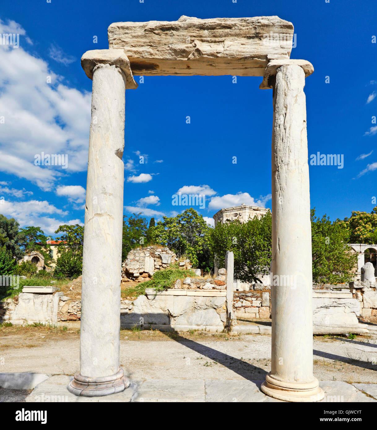The Eastern Propylon in the Roman Agora, Greece - Stock Image
