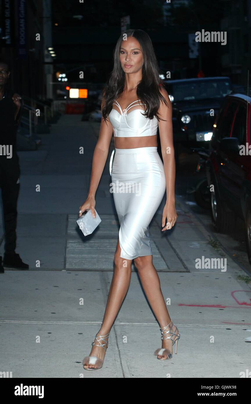 6c88519d New York, NY, USA. 17th Aug, 2016. Joan Smalls arrives to 'Turn Up The Heat  With W Dubai In NYC' event at Glasshouses on August 17, 2016 in New York  City.