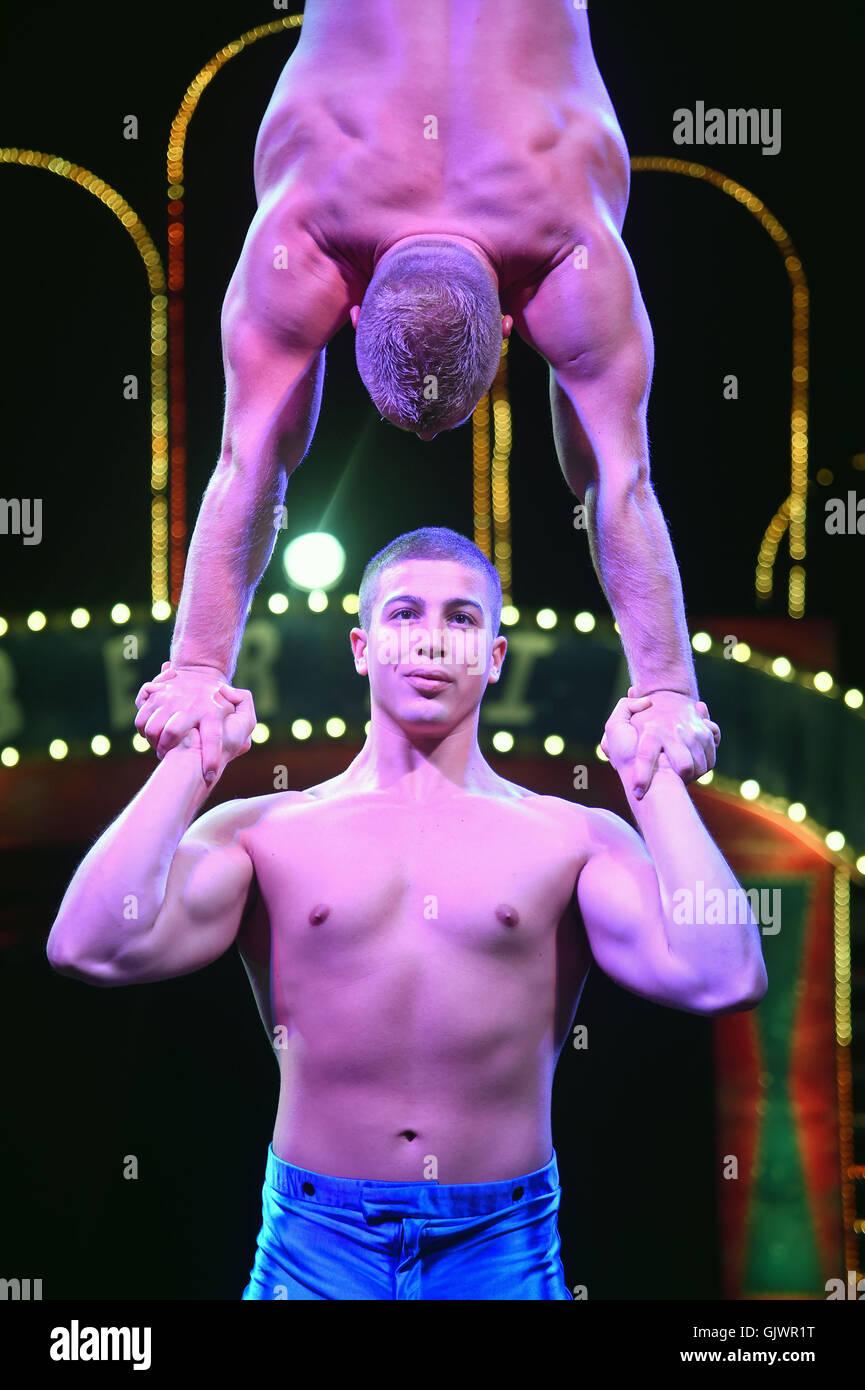Circus performer, 'Continental Circus Berlin' - Stock Image