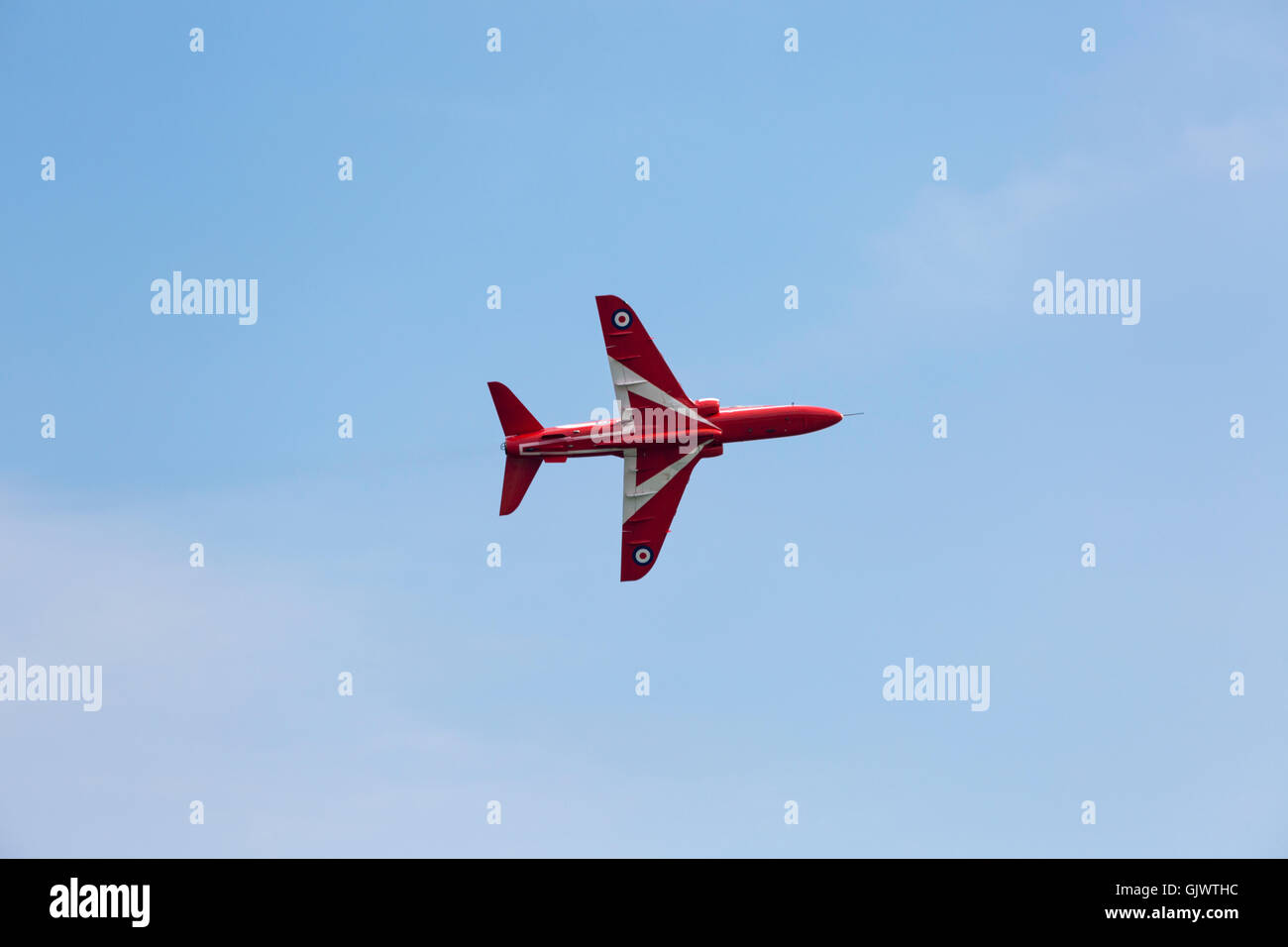 Bournemouth, Dorset, England UK. 18 August 2016. The Red Arrows on the opening day of the Bournemouth Air Festival Stock Photo