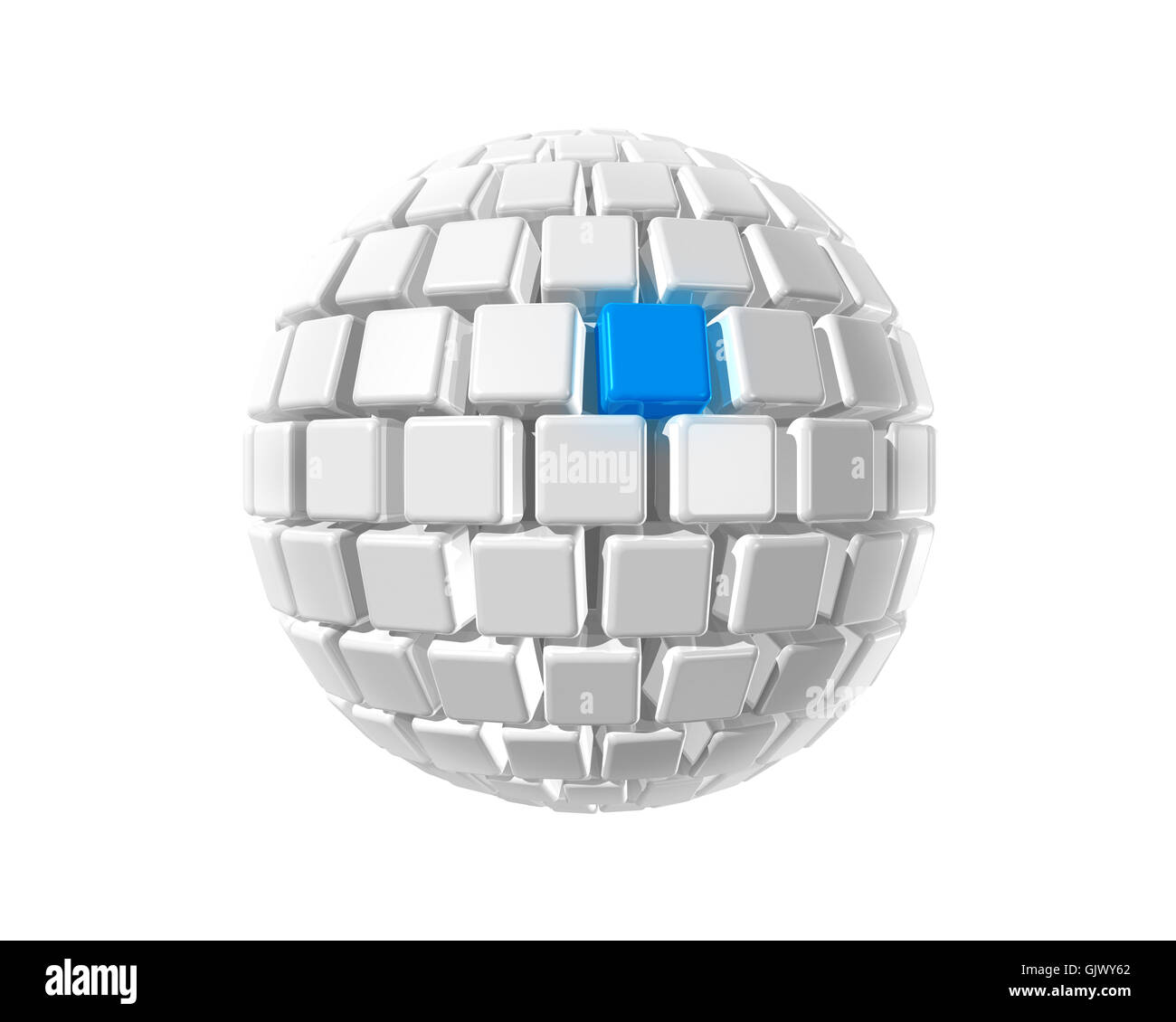 isolated ball three-dimensional - Stock Image