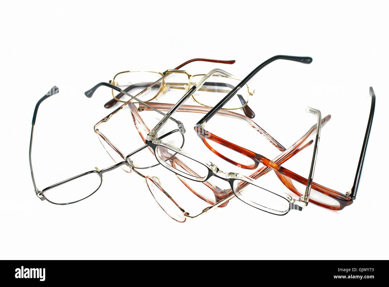 spectacles glasses eyeglasses Stock Photo
