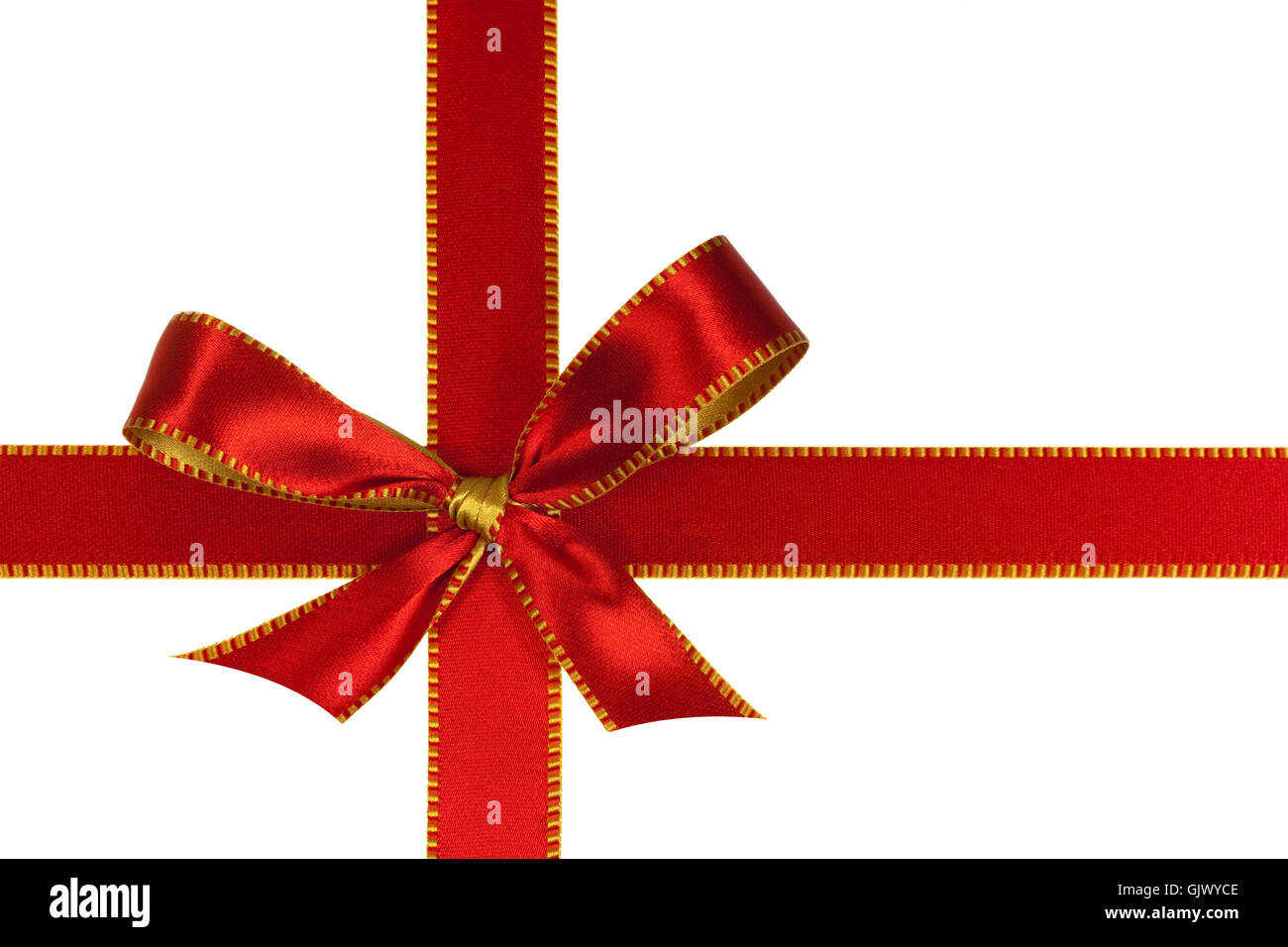red bow,optional in white Stock Photo