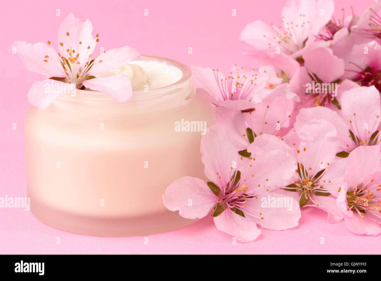 face cream pink - Stock Image
