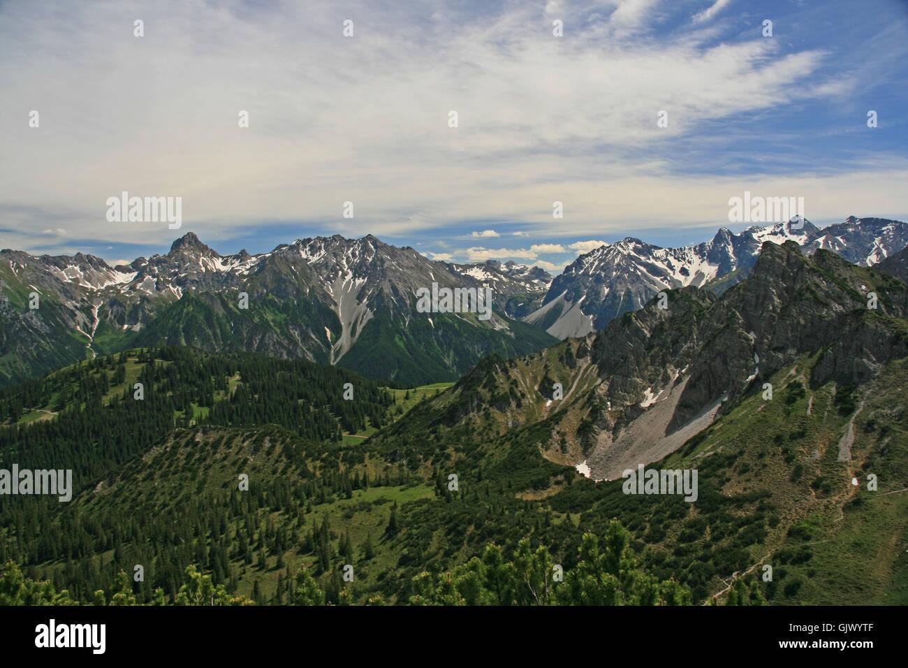 alp summit sight - Stock Image