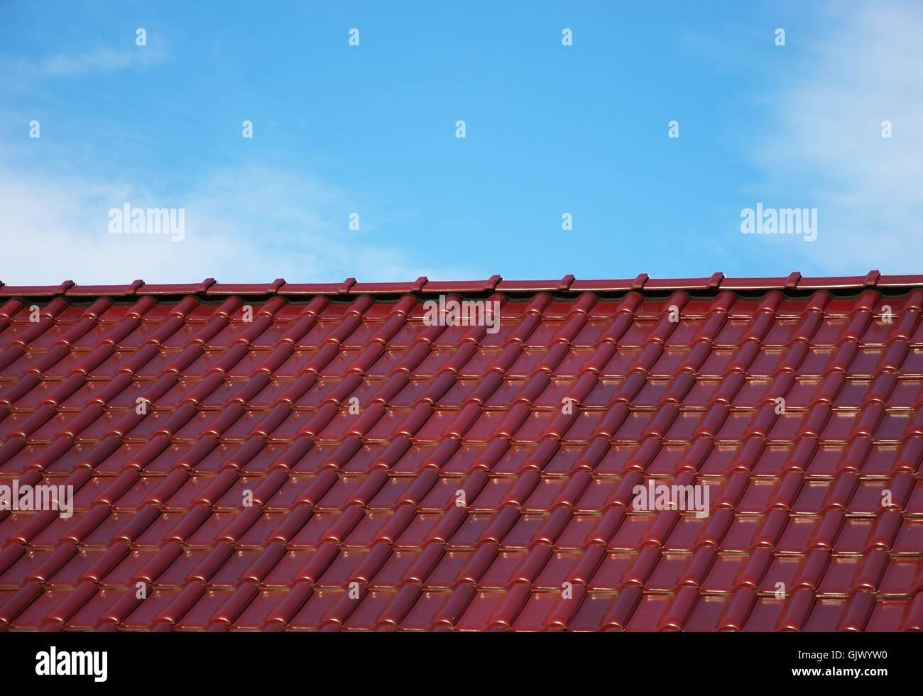 brick reddish brown tile - Stock Image