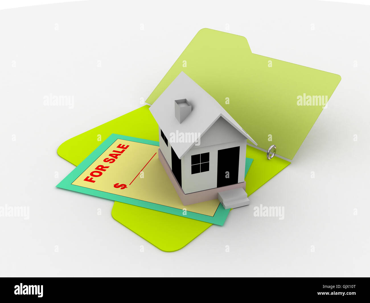 house building sale - Stock Image