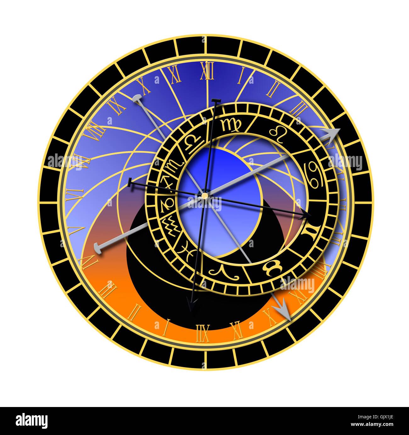 antique clock date - Stock Image