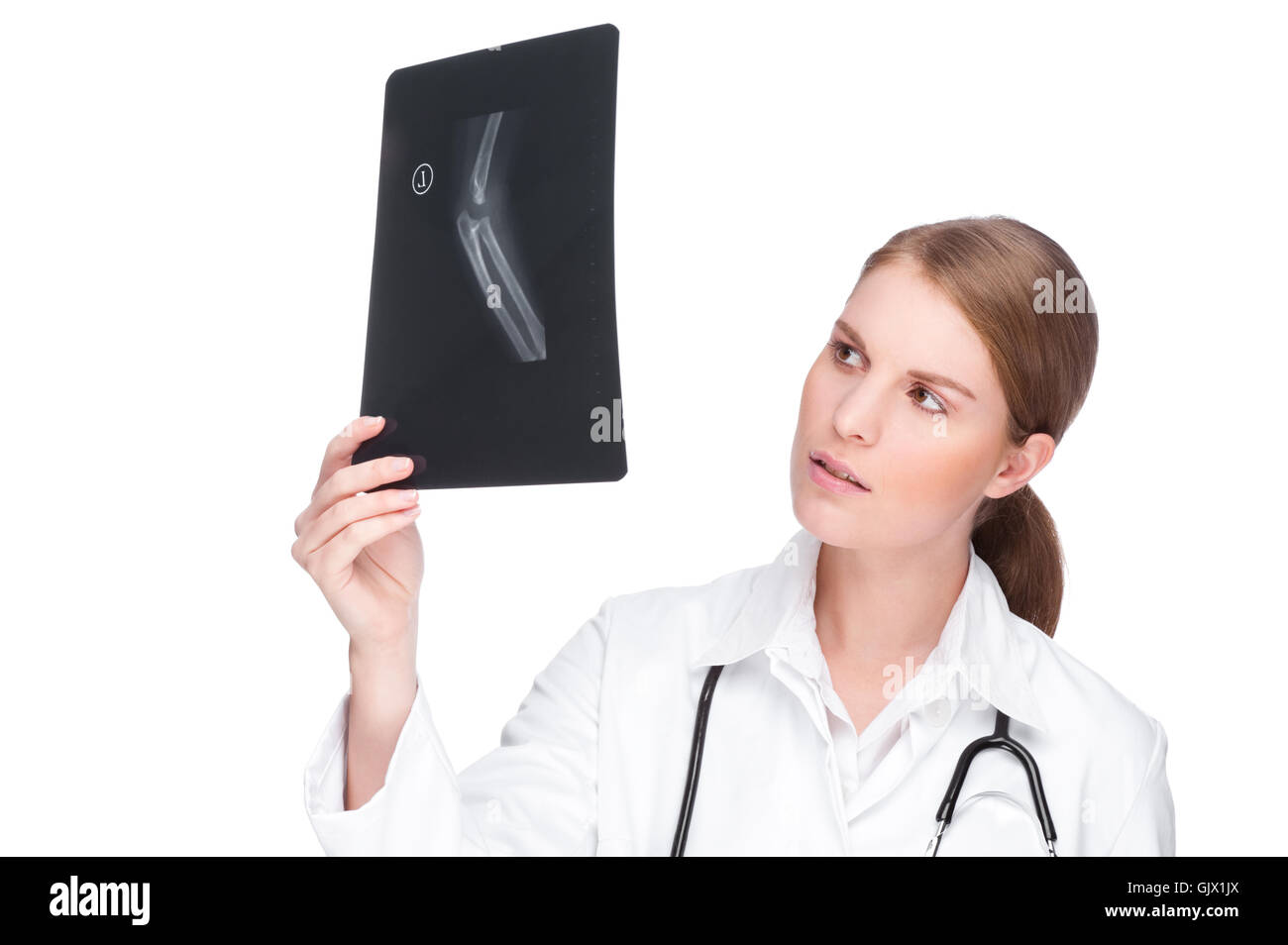 doctor with radiograph - Stock Image