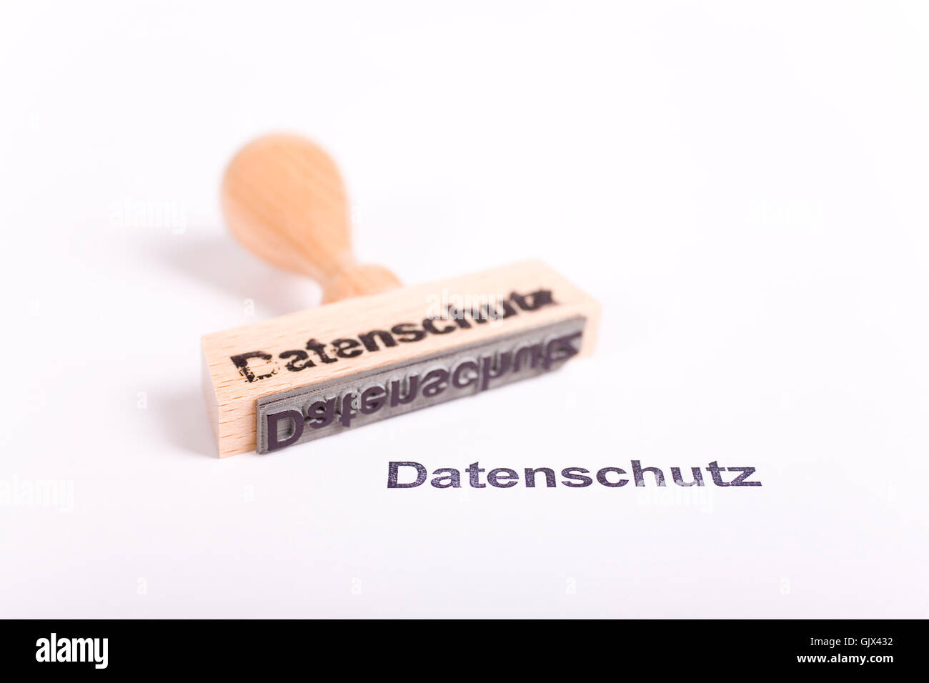 word stamp business dealings Stock Photo