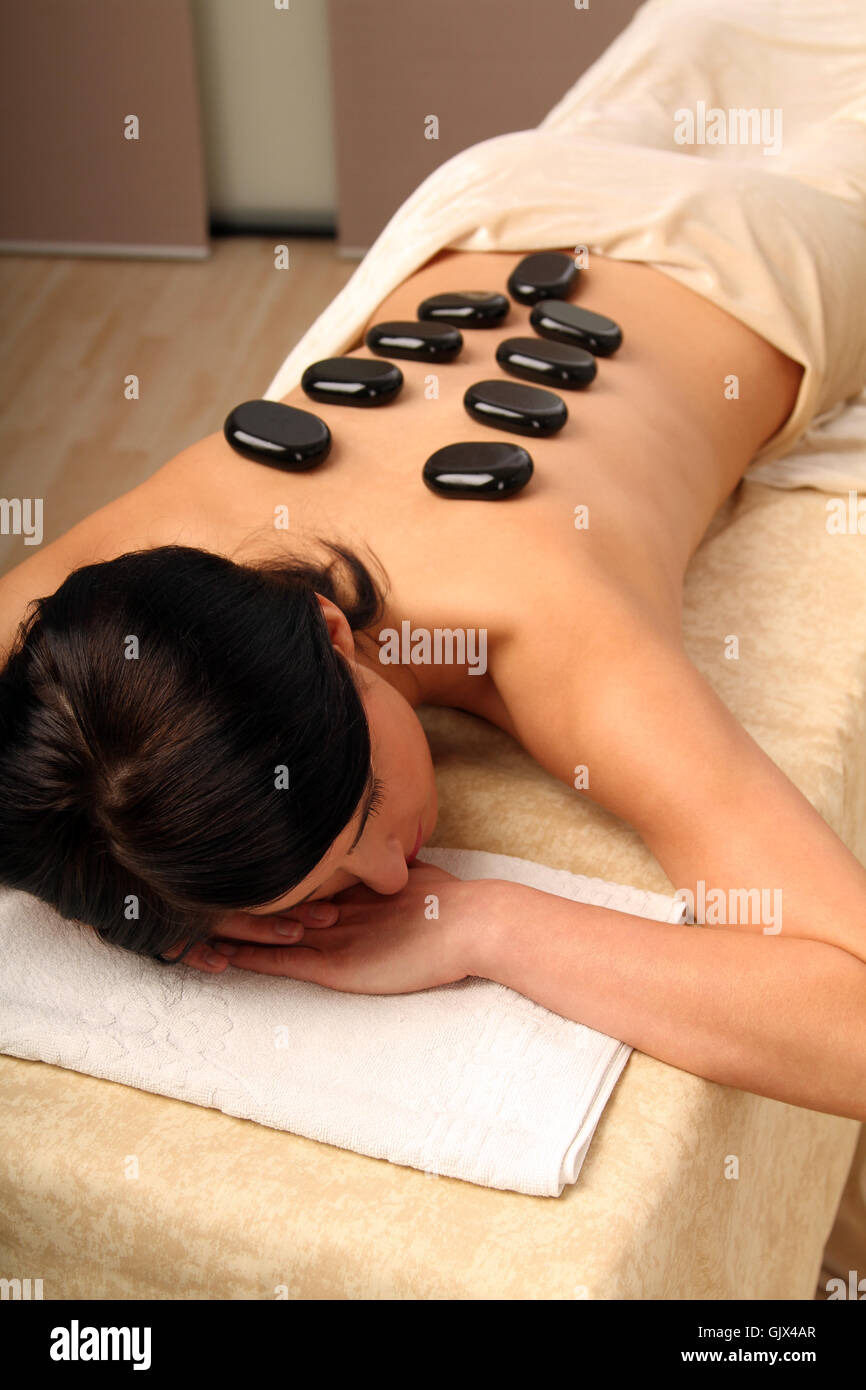 woman relaxation brown - Stock Image