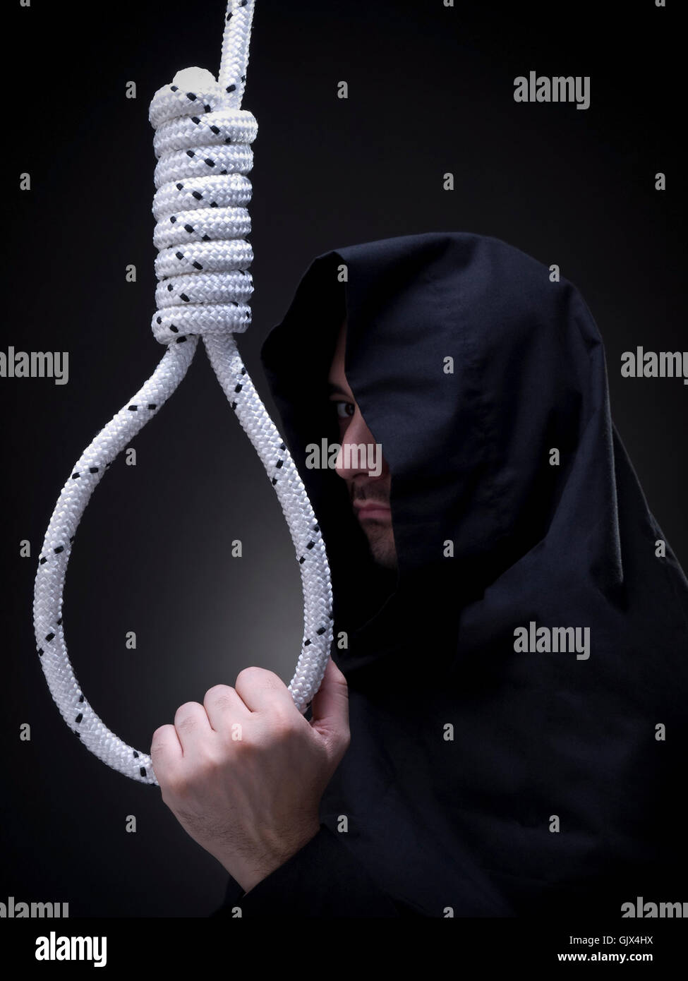 death hood rope - Stock Image