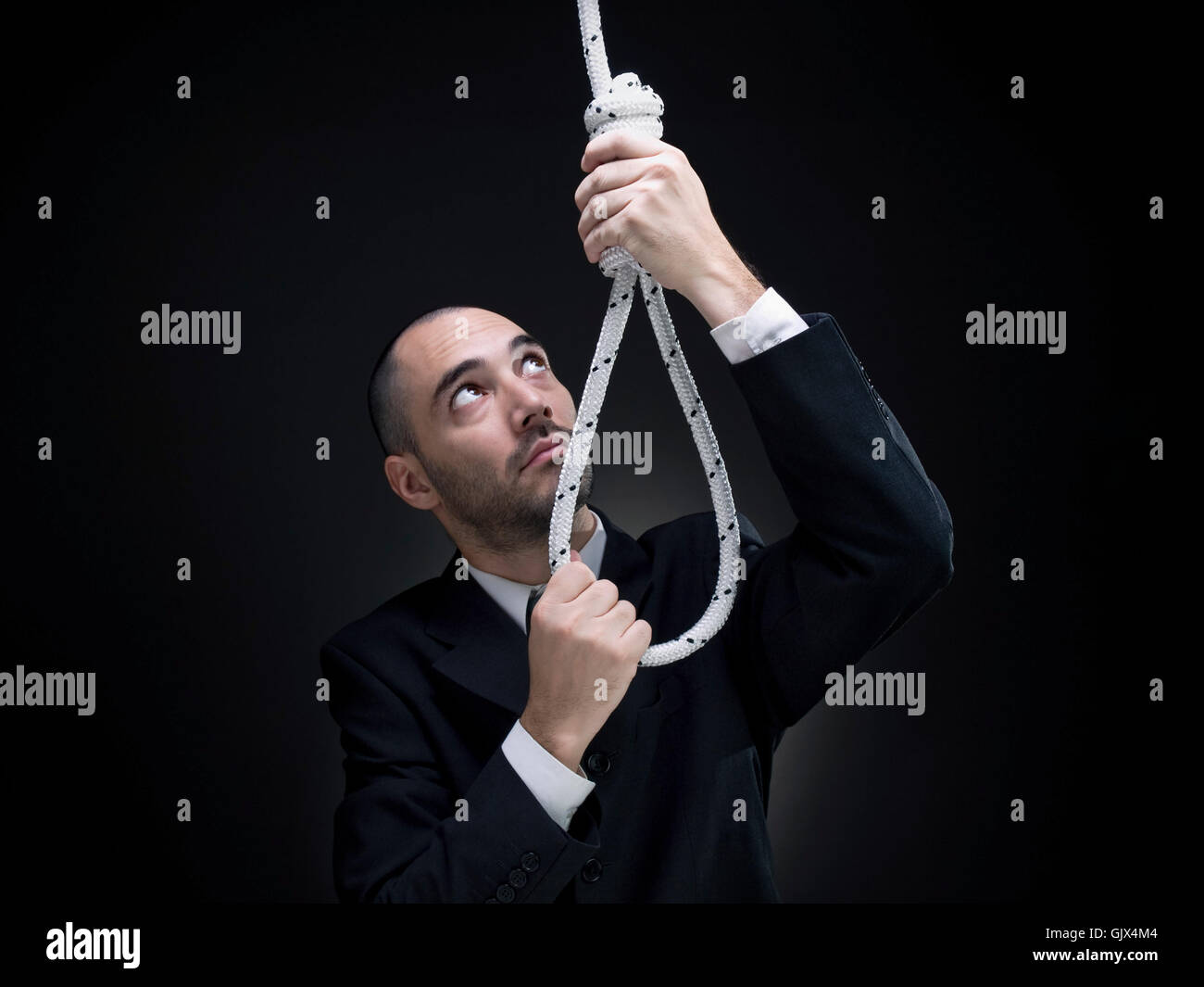 death suicide rope - Stock Image