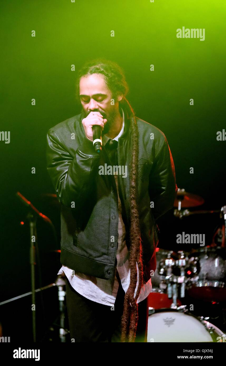 Boomtown Fair Festival, Hampshire,14th Aug 2016,  UK.  Damian Marley performs live on the Lion's Den stage at - Stock Image