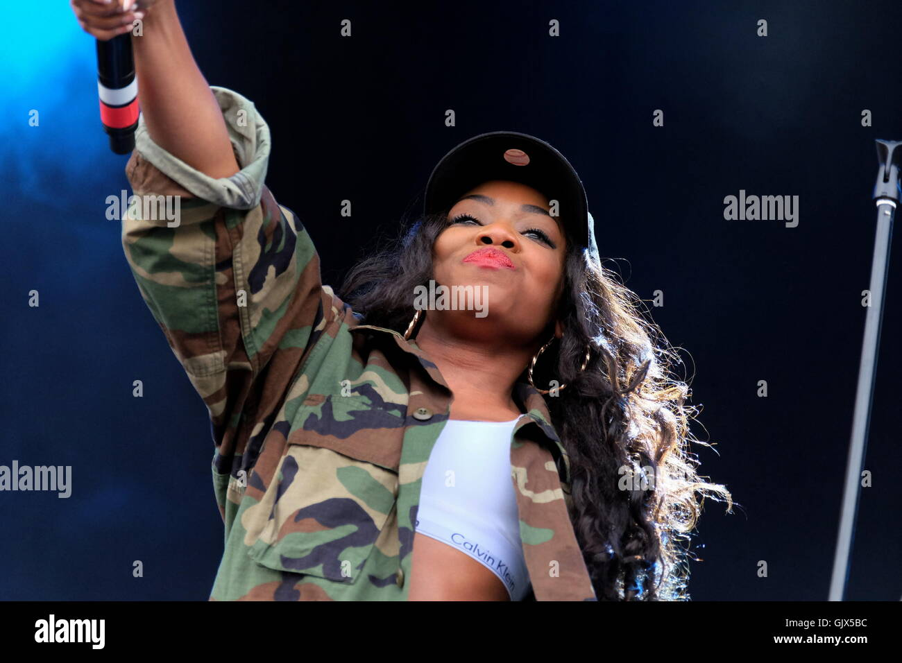 Common People Festival, Hampshire, 28th May 2016, Lady Leshurr performing live on stage - Stock Image