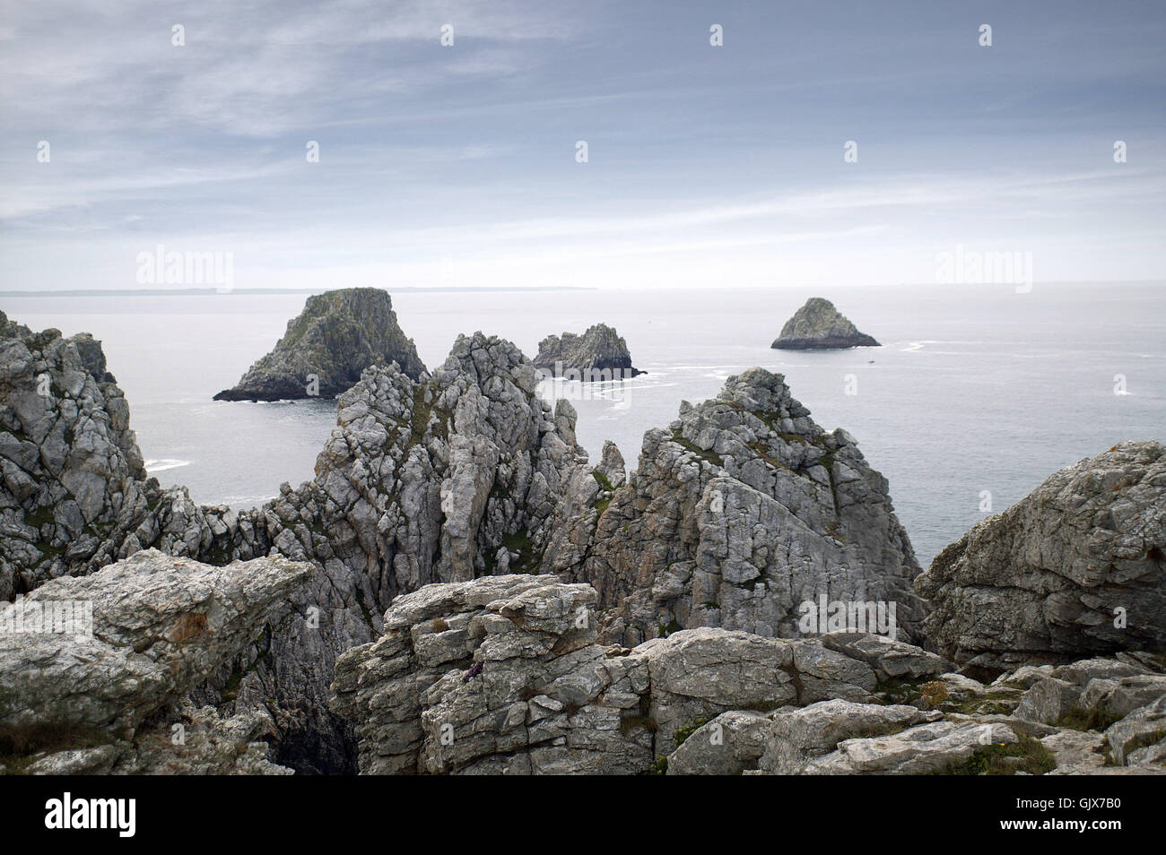 wild rock brittany - Stock Image