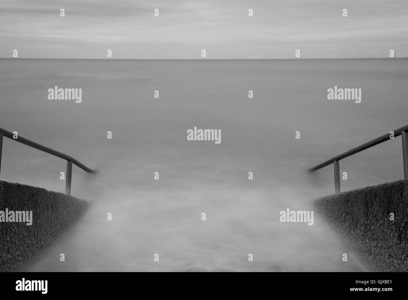 Steps to nowhere - Rhos on Sea - Stock Image