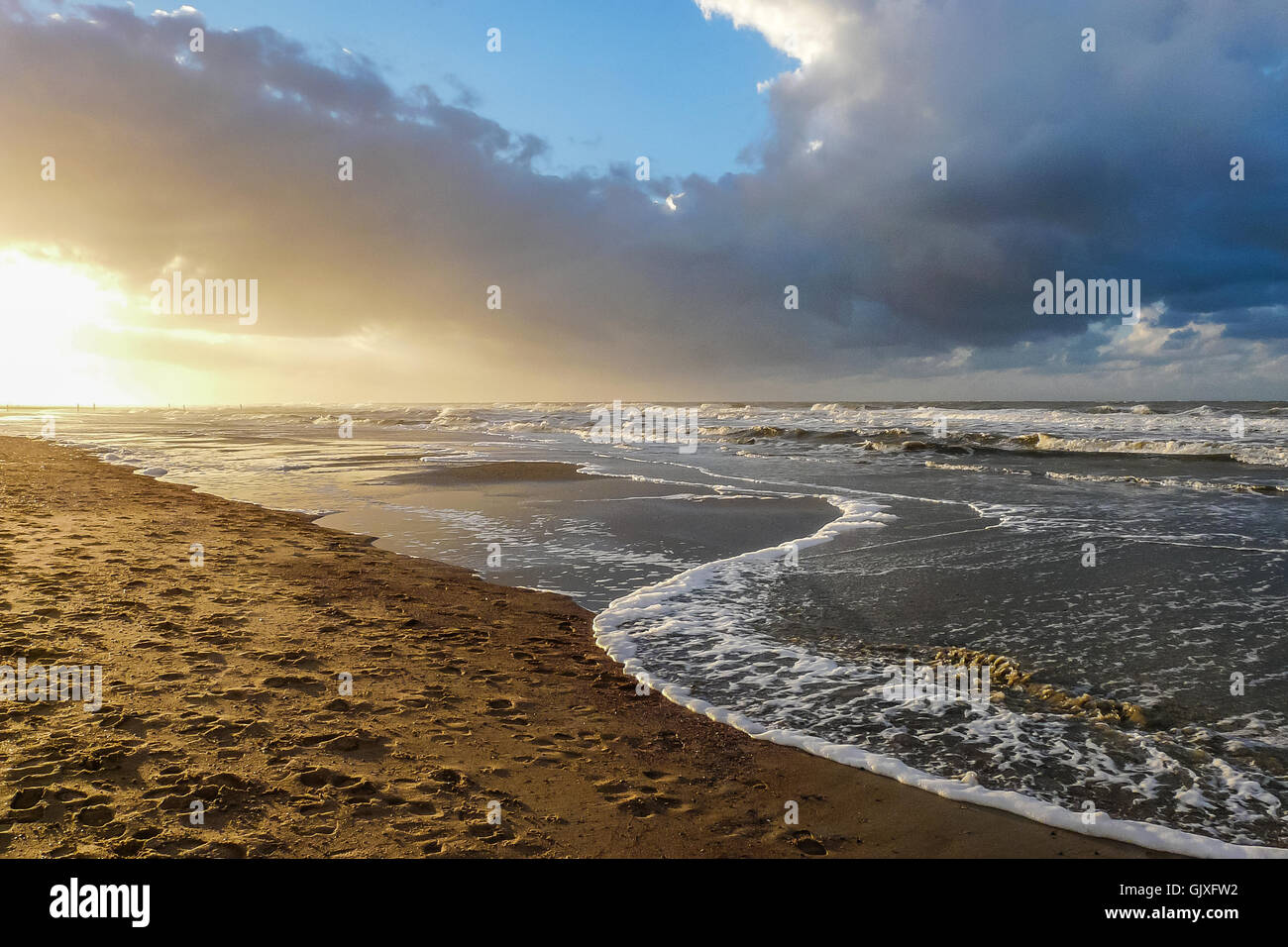 At the Beach of Norderney in Germany Stock Photo