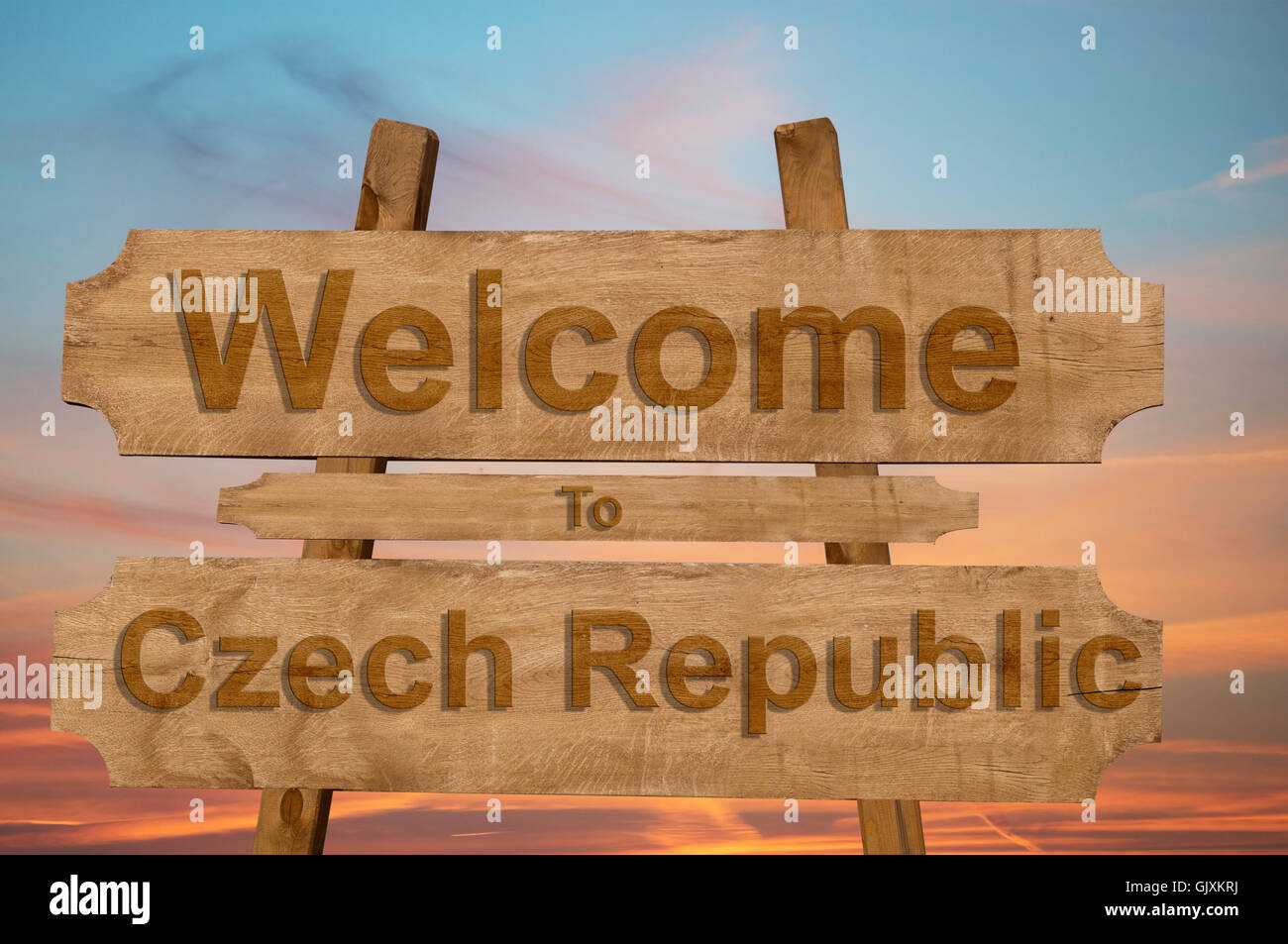 Welcome To Czech Republic Stock Photos Welcome To Czech Republic