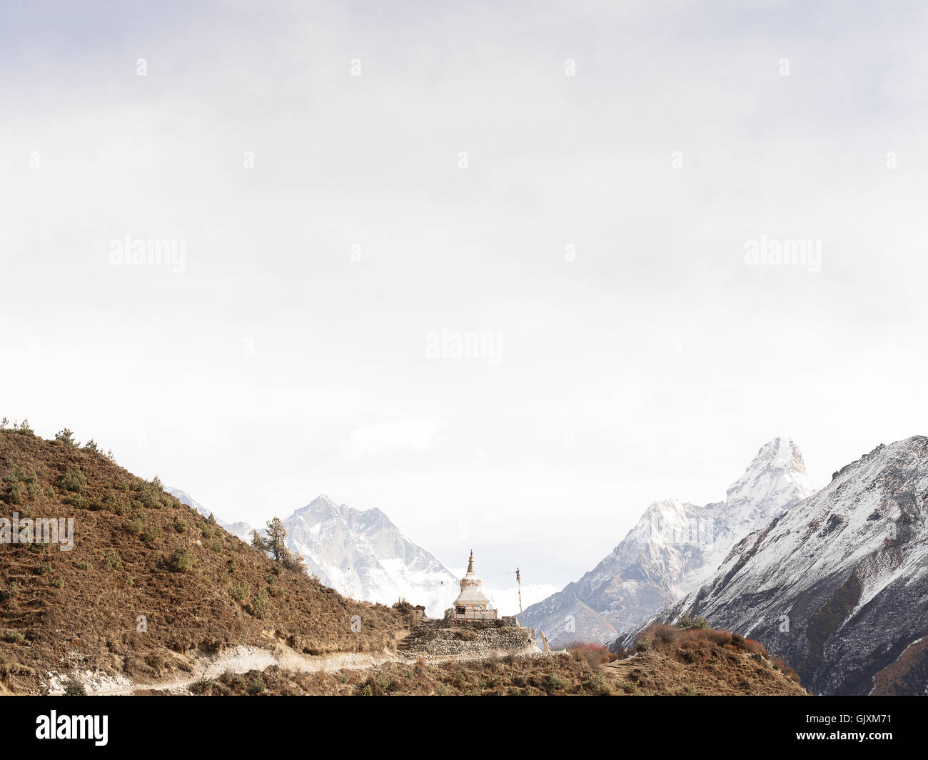 A Buddhist Temple in Everest Base Camp near Namche, Nepal - Stock Image
