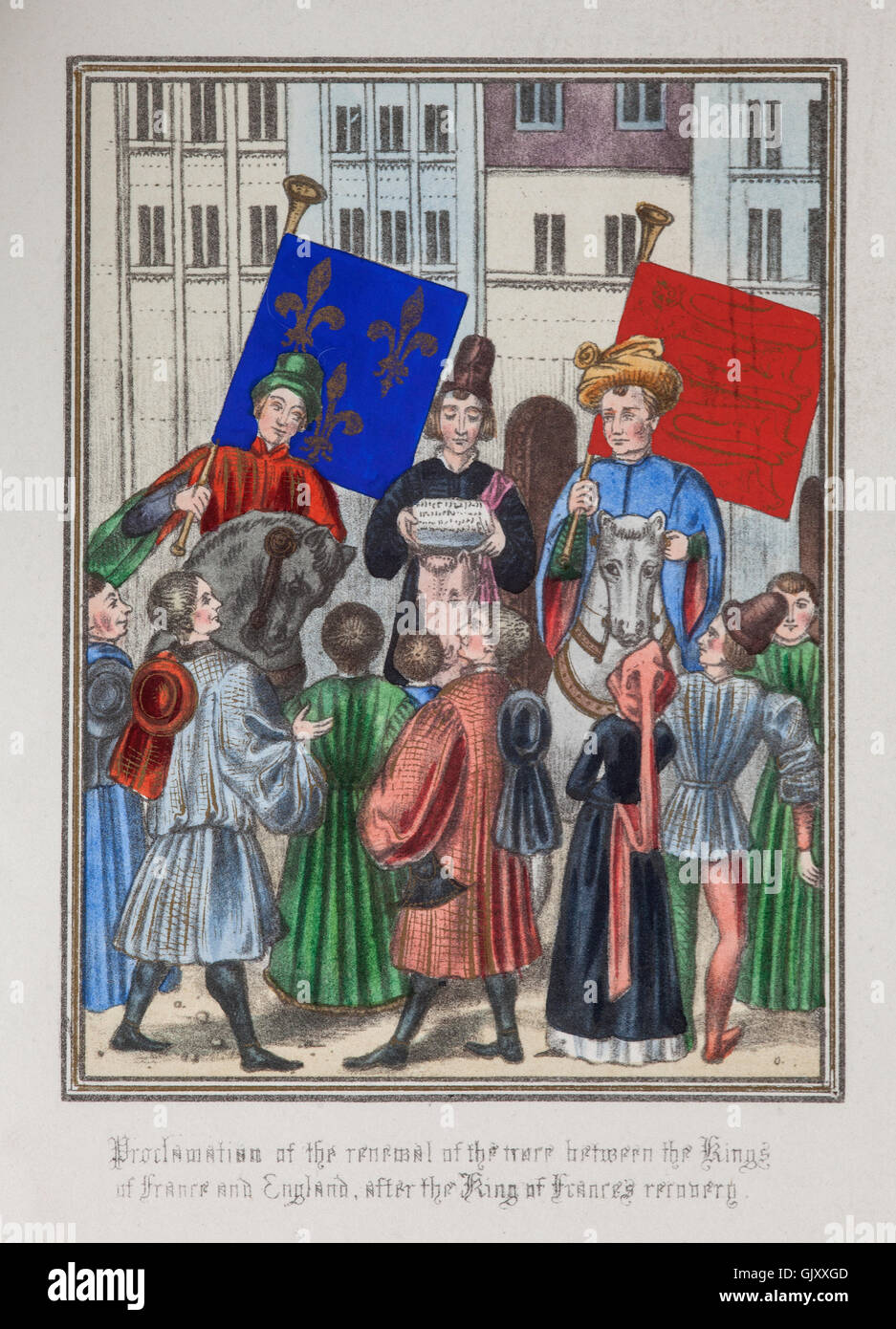 The proclamation of a truce between Richard II of England and Charles VI of France. It was long delayed due to the - Stock Image