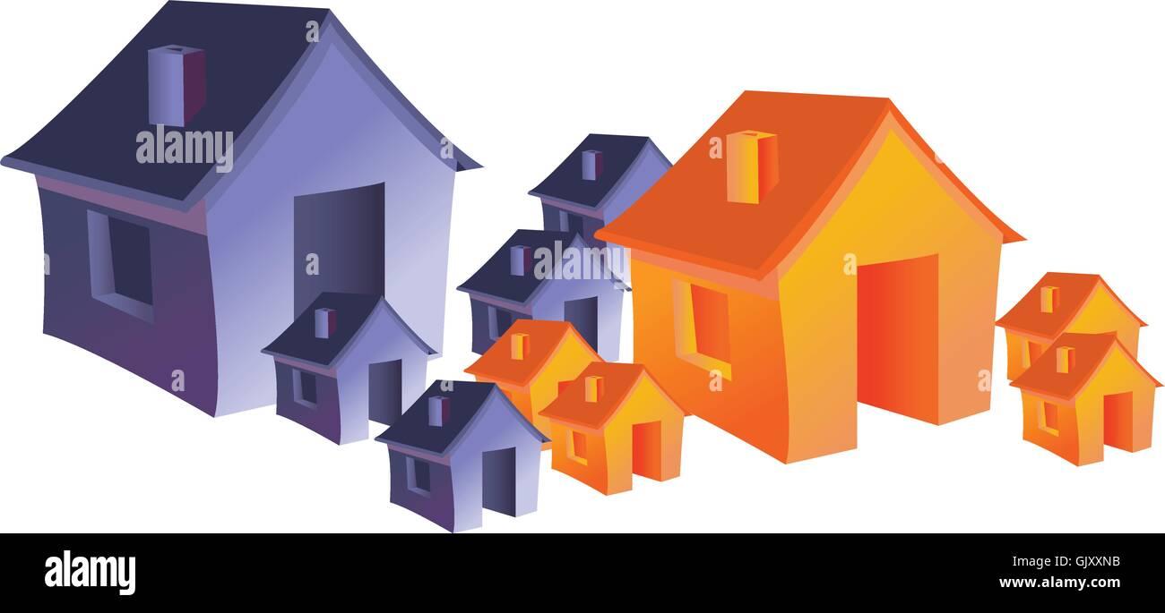 houses - Stock Image