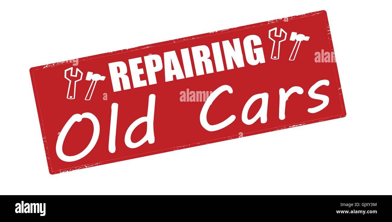 Repairing old cars - Stock Image