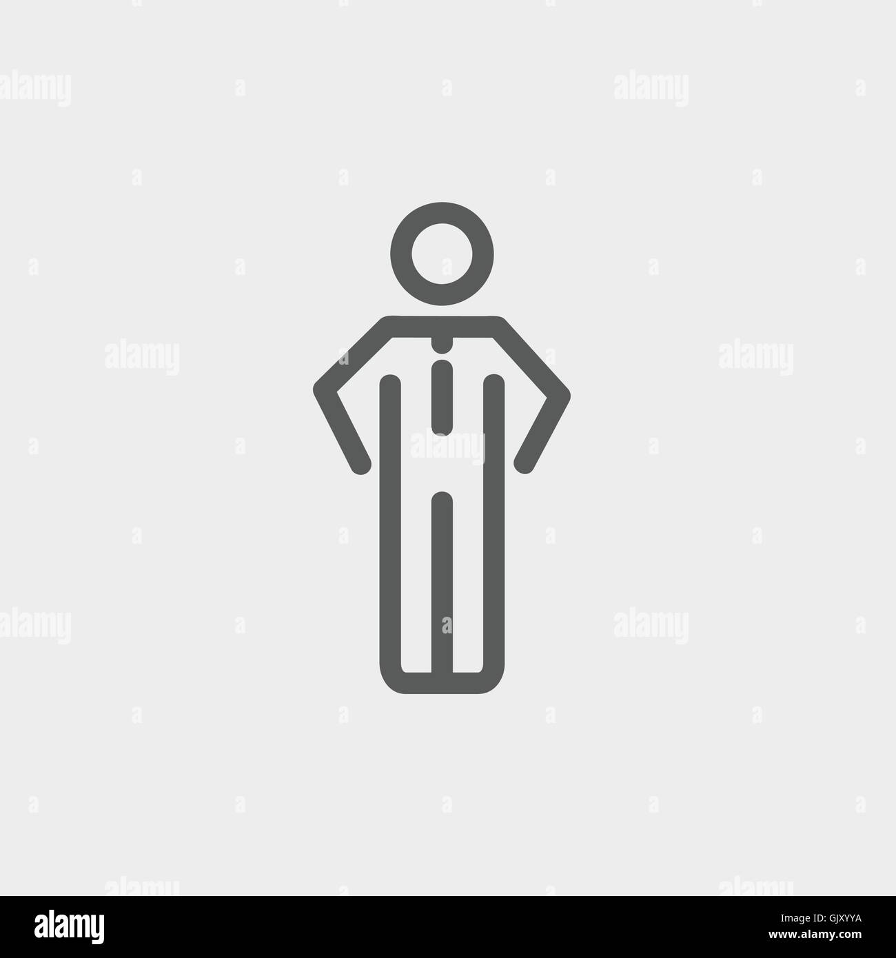 Man standing thin line icon - Stock Vector