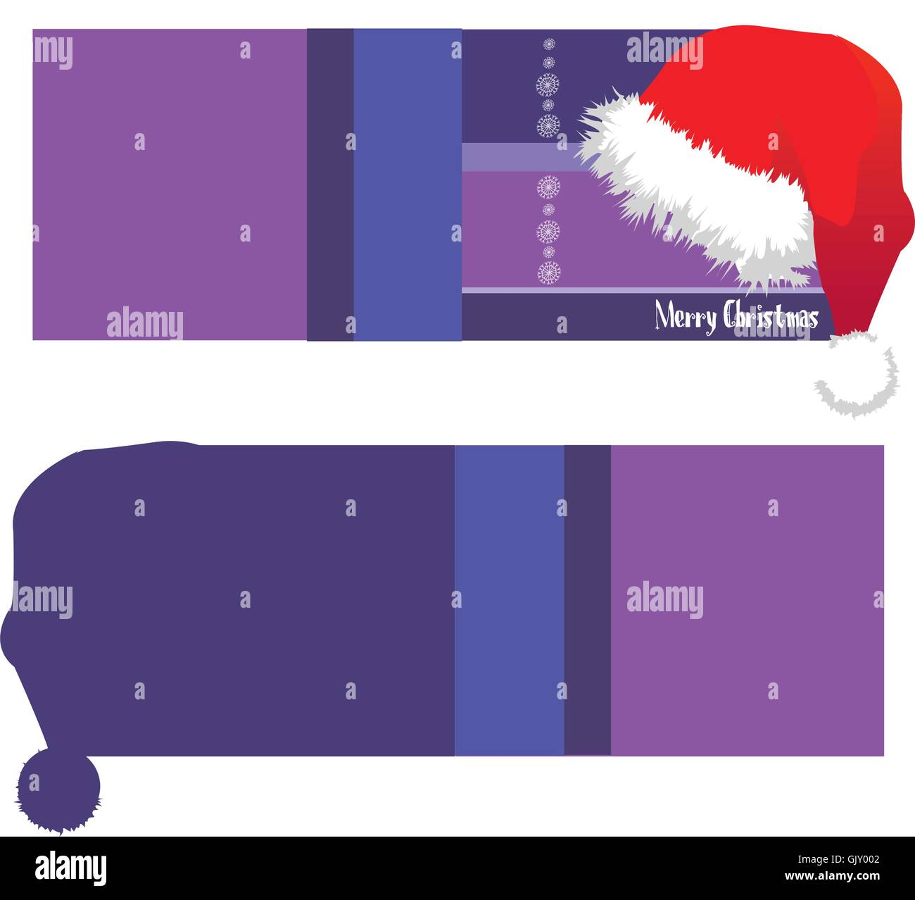 Christmas Card Santa - Stock Vector