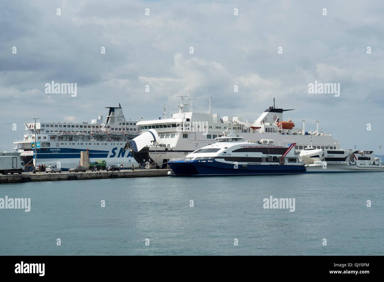 Ferry Terminal, Split, Croatia, Dalmatian Coast - Stock Image