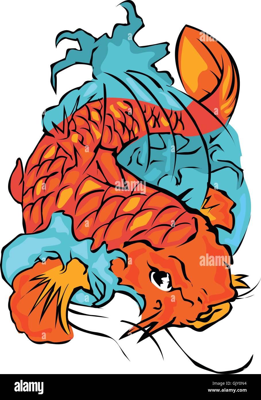 Koi Carp Tattoo Stock Photos & Koi Carp Tattoo Stock Images - Alamy