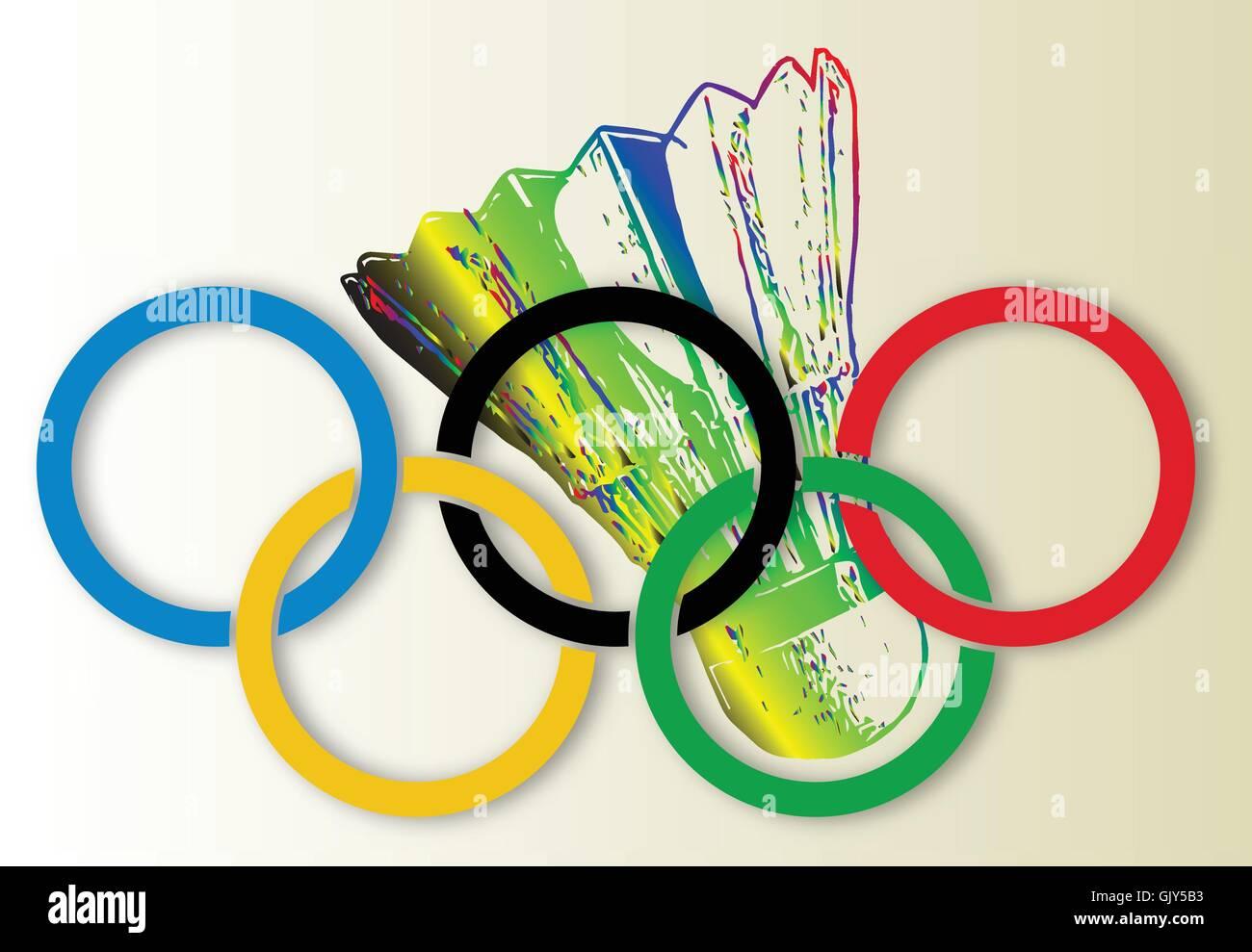 Olympic Badminton - Stock Vector