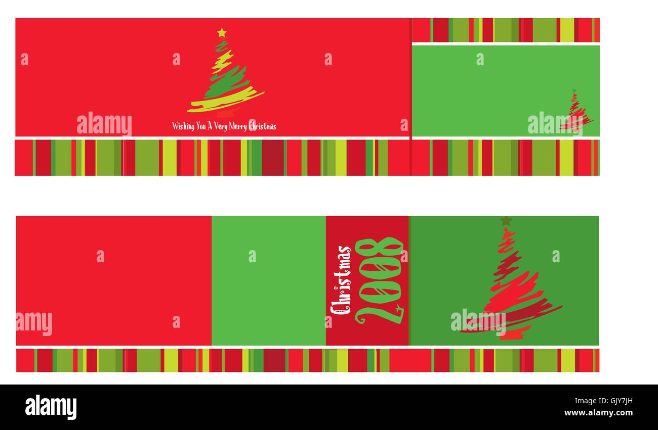 Christmas Card Red - Stock Vector