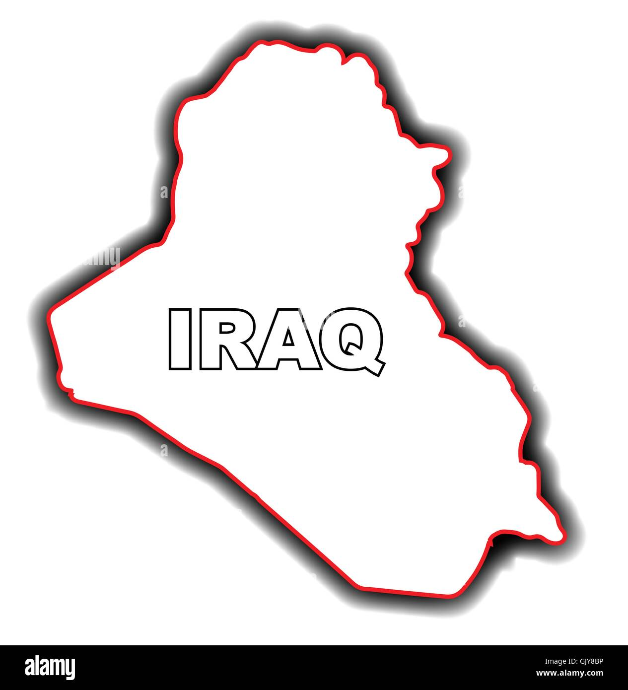 Outline Map of Iraq Stock Vector Art Illustration Vector Image