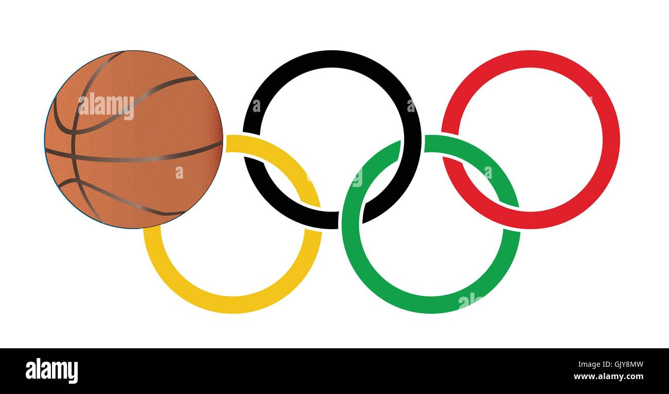 Olympic Basketball - Stock Image