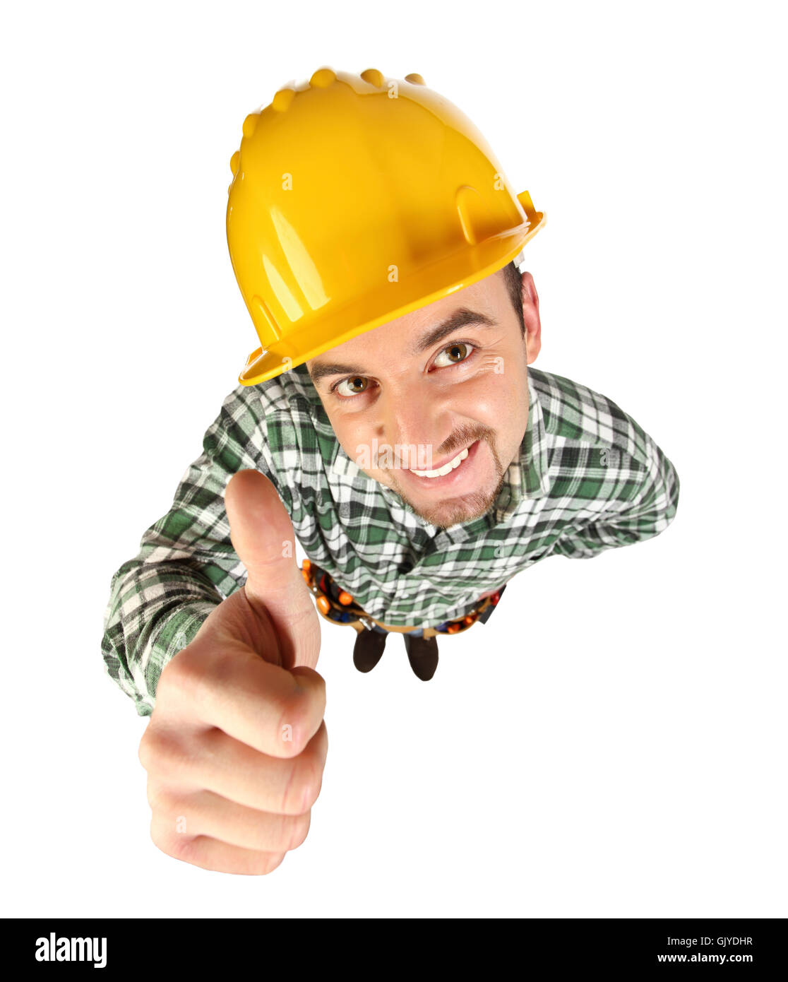industry funny delighted - Stock Image