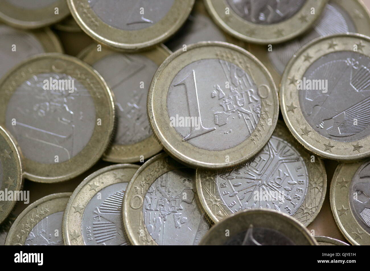 currency euro coins - Stock Image