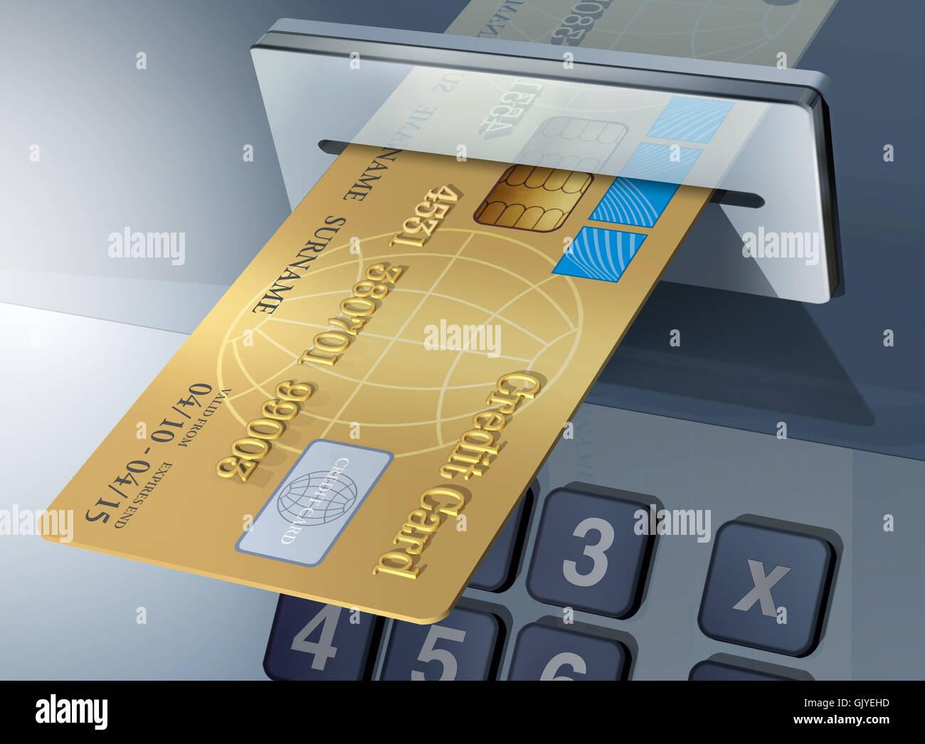 travel credit card visas Stock Photo
