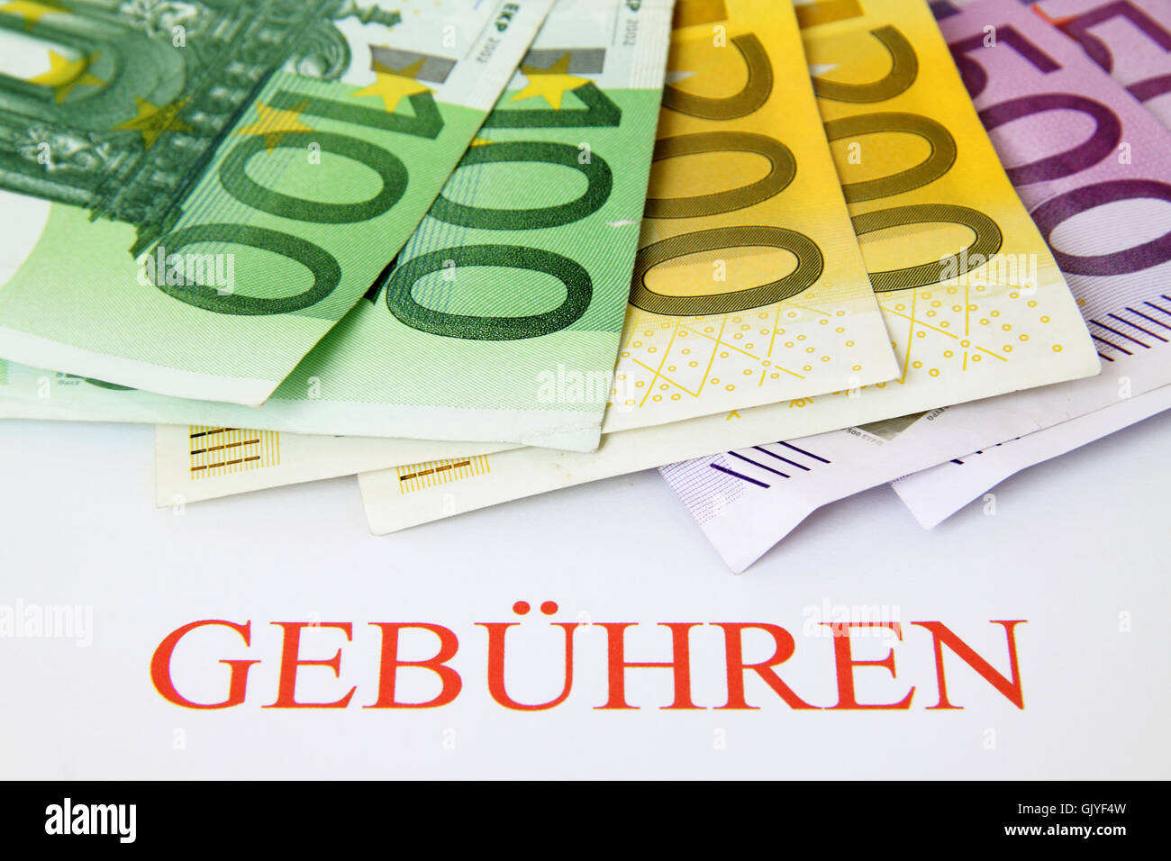 euro cost charges - Stock Image