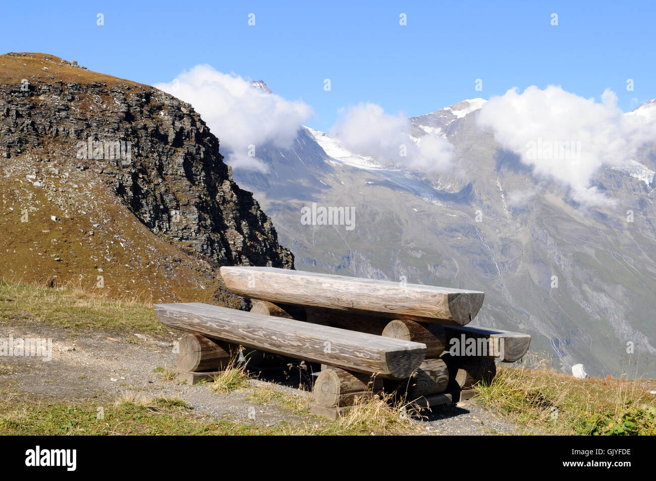 resting place seat bench - Stock Image