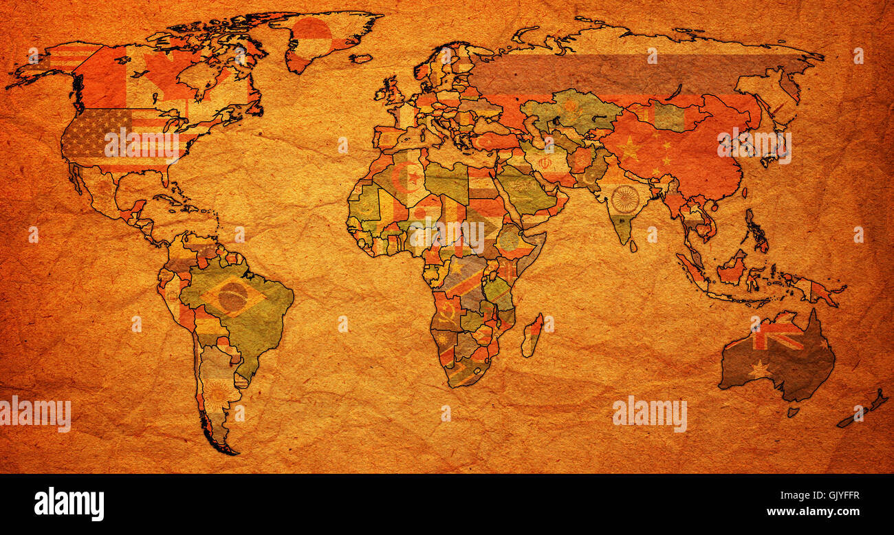 Political map europe north america stock photos political map political map of world stock image gumiabroncs Gallery