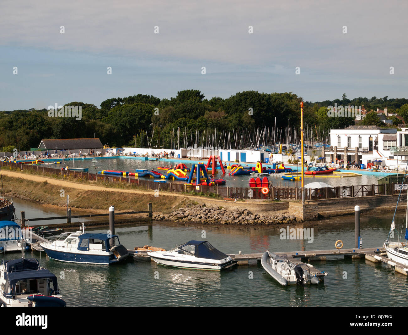 Lymington Sea Water Swimming Pool Lymington Hampshire UK Stock Photo