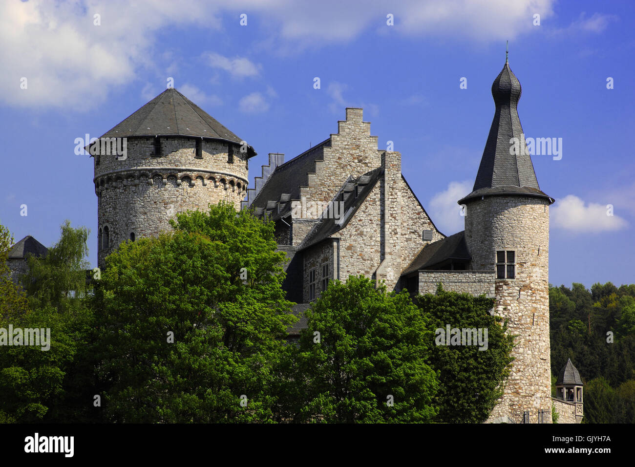 stolberg castle rheinland - Stock Image