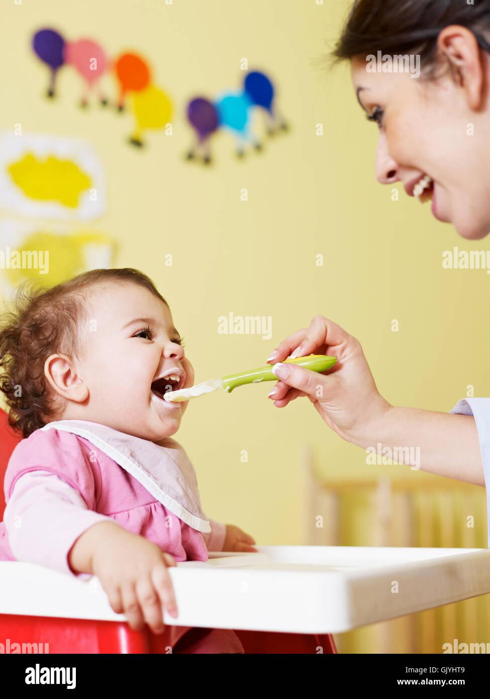 woman food aliment - Stock Image