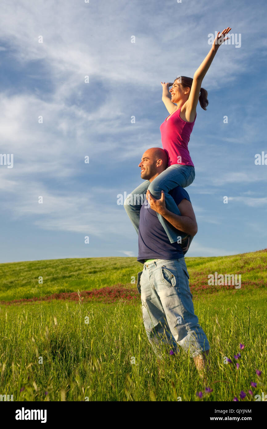 field delighted unambitious - Stock Image